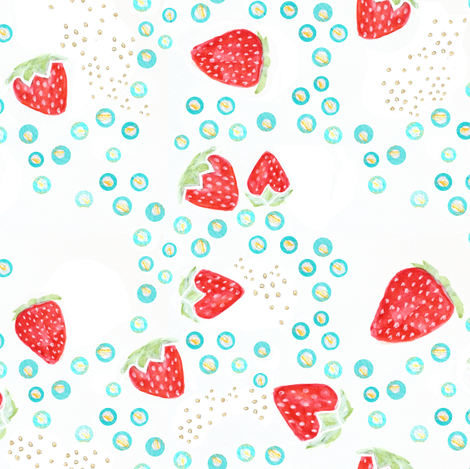 strawberry gold fabric by emilysanford on Spoonflower - custom fabric