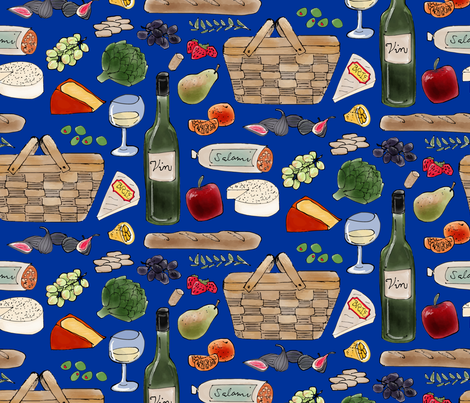 Gourmet Getaway fabric by catbaconcreative on Spoonflower - custom fabric