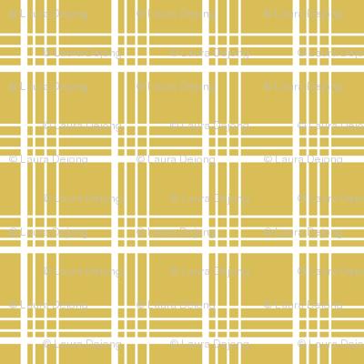 golden plaid