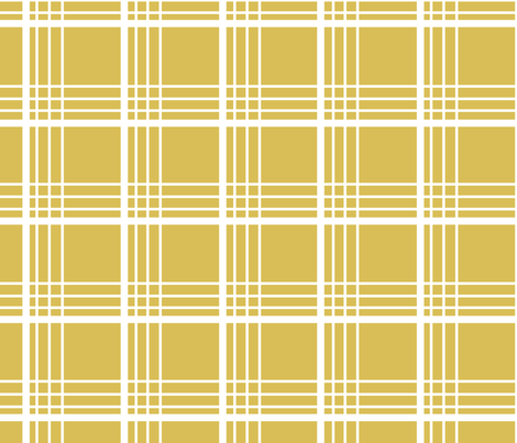 golden plaid fabric by lauradejong on Spoonflower - custom fabric