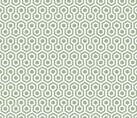 blue hexagons fabric by lauradejong on Spoonflower - custom fabric