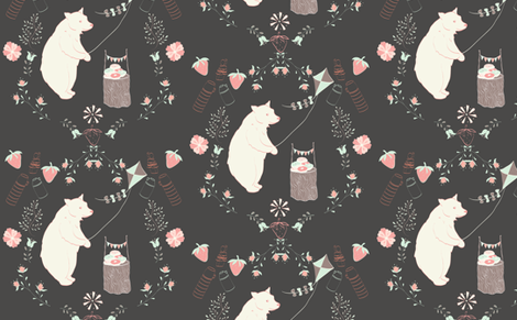 Picnic for Bear fabric by mayavenue on Spoonflower - custom fabric