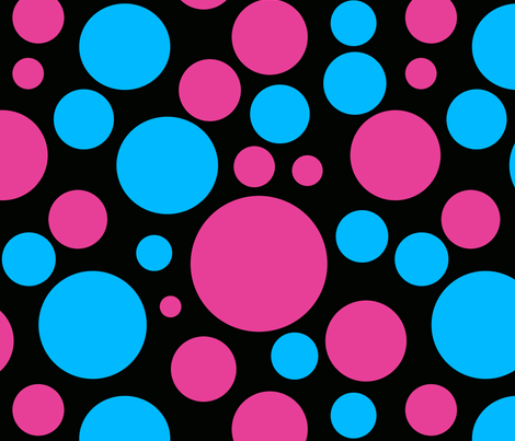 Blue_and_Pink_Polka_Dots_Seamless-ch fabric by bluewrendesigns on Spoonflower - custom fabric