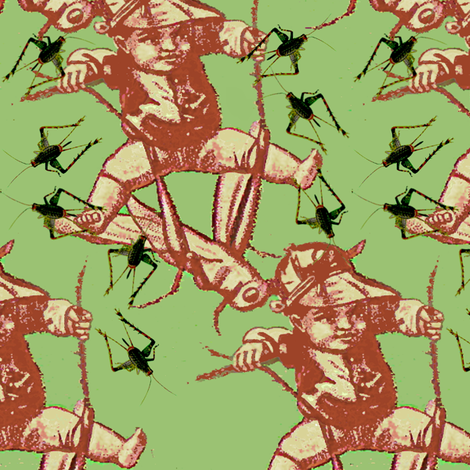 ditsy crickets fabric by nalo_hopkinson on Spoonflower - custom fabric