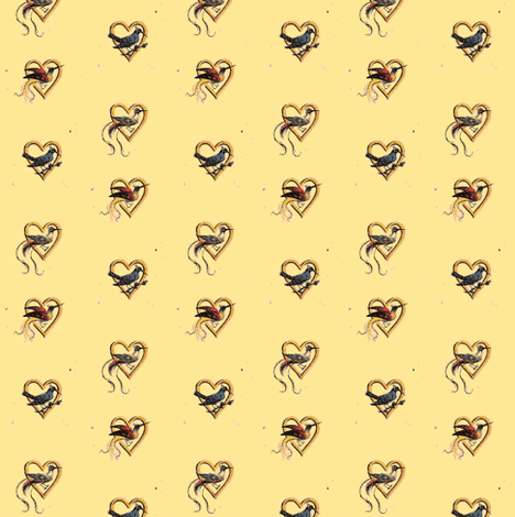 Hearts and Birds fabric by amyvail on Spoonflower - custom fabric