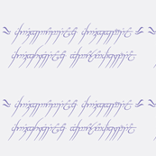 """Lord of the rings - """"one ring"""" script- white and lilac"""