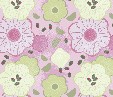 English Picnic [Pink] fabric by sarahparis on Spoonflower - custom fabric