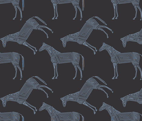 Geometric Horses fabric by itsahootdesigns on Spoonflower - custom fabric