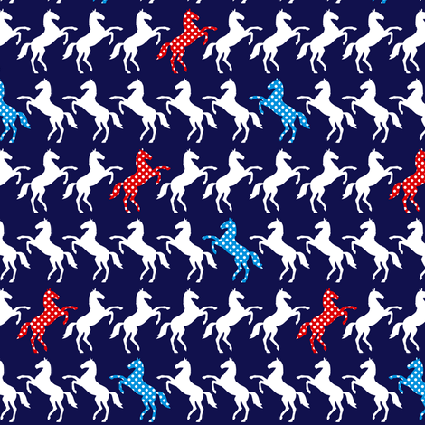 Polka Dot Horse fabric by lovelyjubbly on Spoonflower - custom fabric