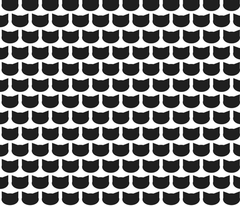 Right Meow fabric by indienook on Spoonflower - custom fabric