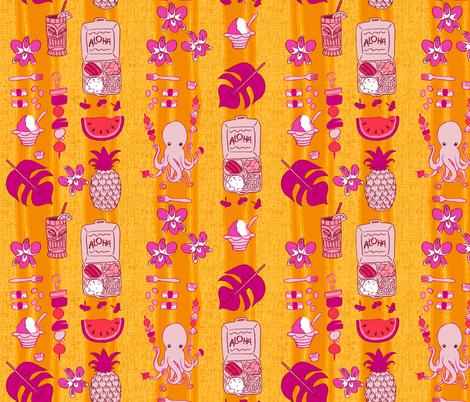 Tako-san's Maui Picnic fabric by aimee on Spoonflower - custom fabric