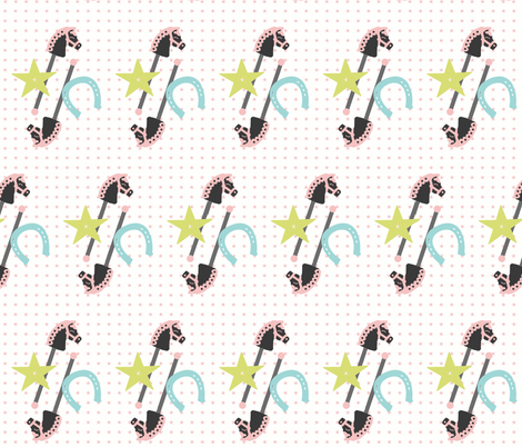 Giddyup, Hobby Horse fabric by rileymade on Spoonflower - custom fabric