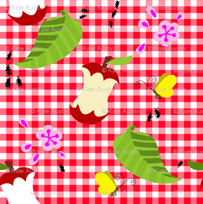 picnic under the apple tree