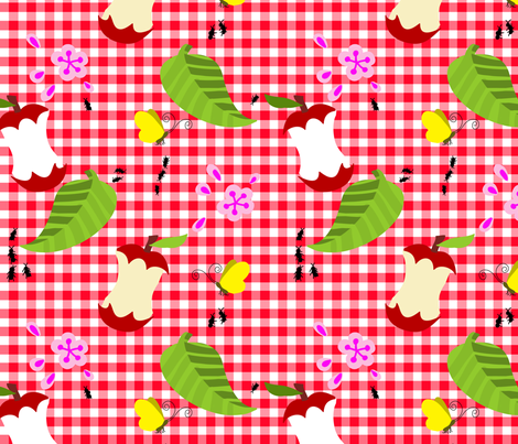 picnic under the apple tree fabric by kateaustindesigns on Spoonflower - custom fabric