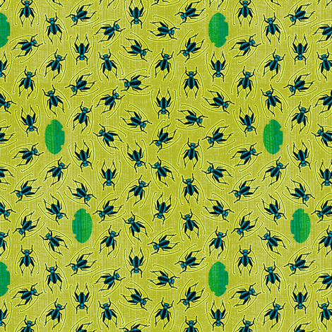 Hungry Blue Crickets fabric by elramsay on Spoonflower - custom fabric