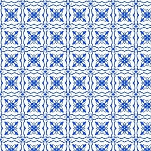 Azulejos in summer blue, small