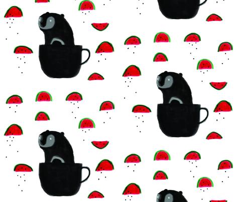 teddy bear's picnic fabric by roxi on Spoonflower - custom fabric