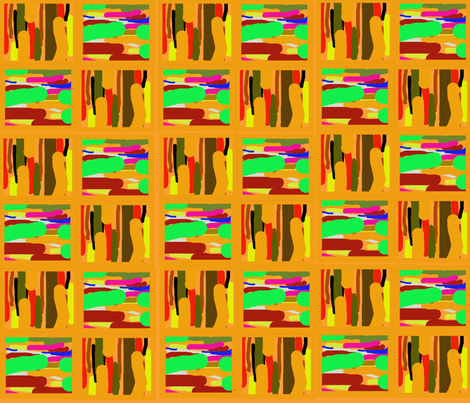 Abstract kente large fabric by scifiwritir on Spoonflower - custom fabric
