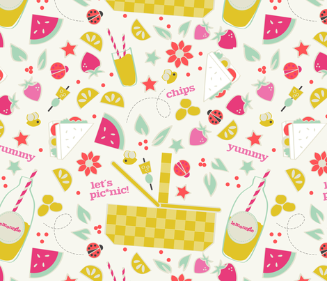 Let´s Pic*nic! fabric by gloriaurech on Spoonflower - custom fabric