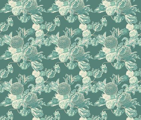 mid century modern floral ~ Hummingbird ~ medium fabric by peacoquettedesigns on Spoonflower - custom fabric