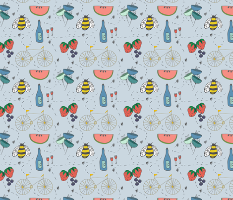 Picnic in the Park fabric by studiopano on Spoonflower - custom fabric