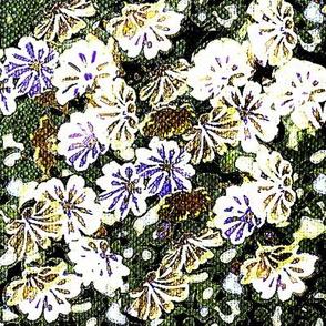 brown flowery,floral star flower garden
