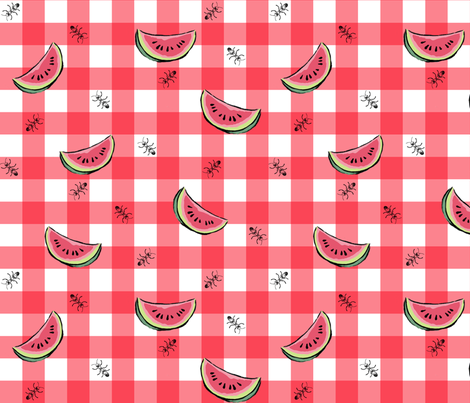 watermelon_picnic fabric by spacecowgirl on Spoonflower - custom fabric