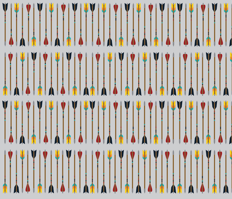 The Arrows - Gray fabric by oliveandruby on Spoonflower - custom fabric