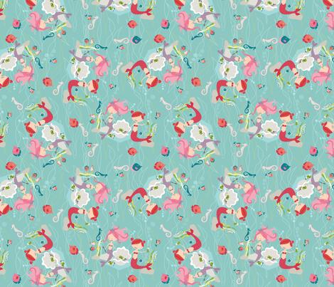 Mermaid Picnic fabric by meg56003 on Spoonflower - custom fabric