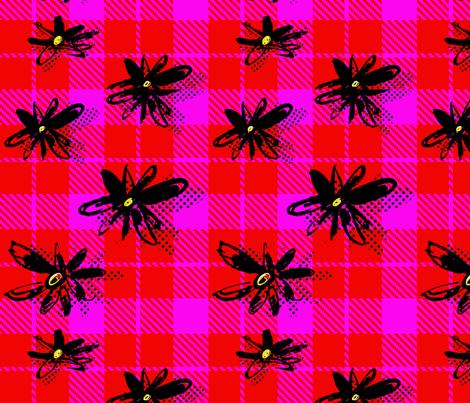 EllieFidler_Plaid_Daisies fabric by ellieshania on Spoonflower - custom fabric