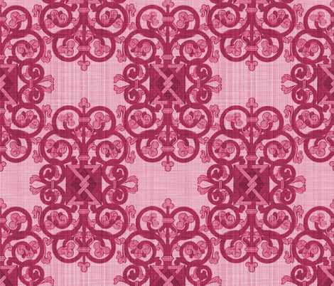 Celtic Knot ~ Berry Linen fabric by peacoquettedesigns on Spoonflower - custom fabric