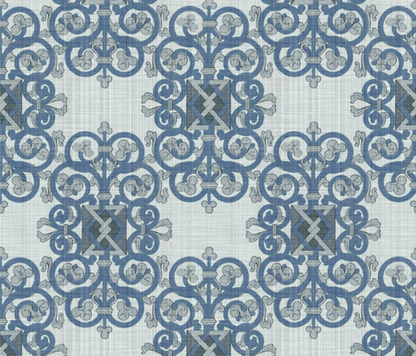 Celtic Knot ~ Blue Linen fabric by peacoquettedesigns on Spoonflower - custom fabric
