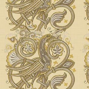 Celtic Bird ~ Beige Linen