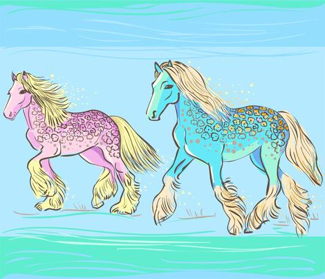 Gipsy Horses fabric by nikishor on Spoonflower - custom fabric