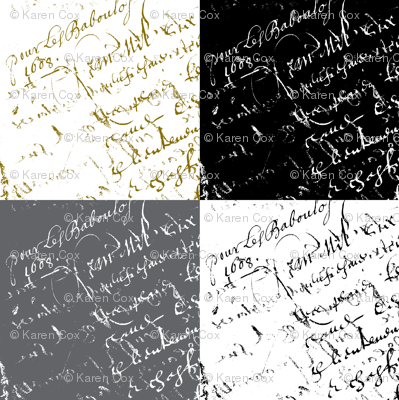 French Script Swatches