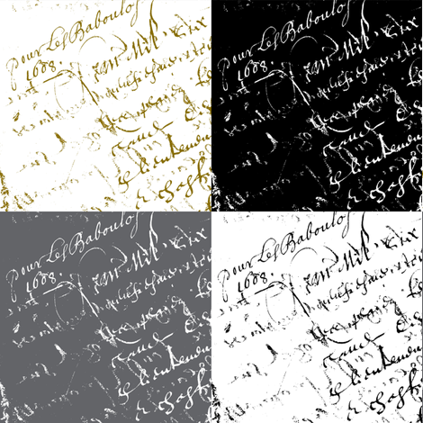 French Script Swatches fabric by karenharveycox on Spoonflower - custom fabric