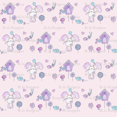 Bessie Bunny - pink garden