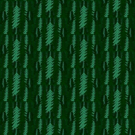 Evergreen Winter Trees2  Fabric fabric by lworiginals on Spoonflower - custom fabric