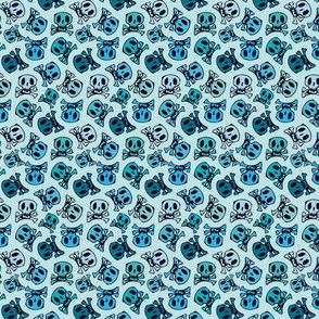 skulls on mint small size