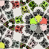 skulls geometric txt small size