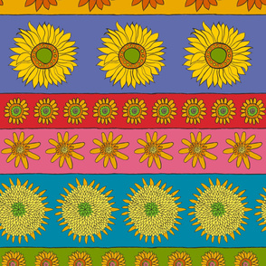 Sunflower Stripe Horizontal