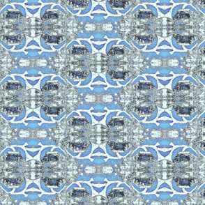 """Venetian Blue Plaster Courtyard"""