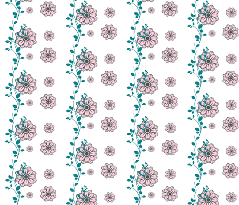 Floral fabric by firedryad1 on Spoonflower - custom fabric