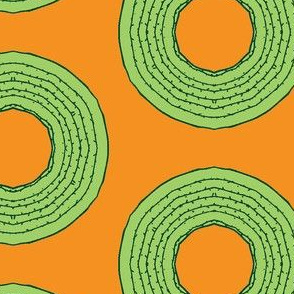cacti donut on orange