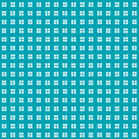 block print turquoise and white fabric by georgeandgracie on Spoonflower - custom fabric