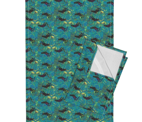 Cricket Batik - aqua & multi-colored