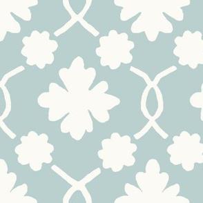 Aquamarine Floral Trellis