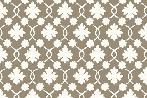 Mushroom Floral Trellis fabric by willowlanetextiles on Spoonflower - custom fabric