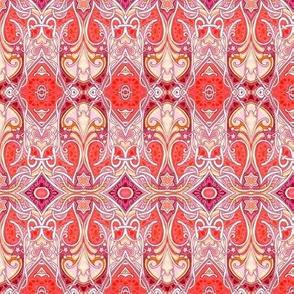 Red Paisley Nouveau