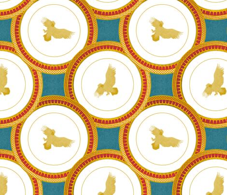 brick eagle plate fabric by glimmericks on Spoonflower - custom fabric